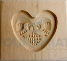 Speculoos mould small heart 8cm