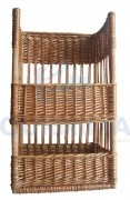 Rectangular wicker basket for baguette