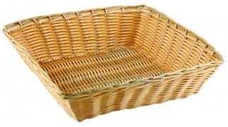 Square wicker basket professional natural colour