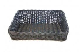 Tilted composite basket 28x40xH9/25cm
