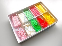 Bobèche + candle kit small model of 100 units 5 different colours