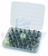 Kit decorating nozzles 26 units + 3 accessories